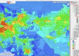 LA Area Hispanic Population Heat Map