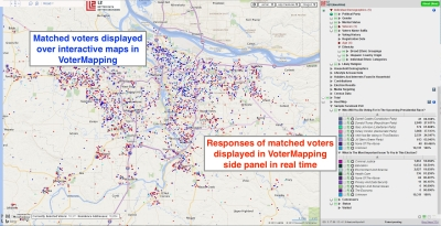 Ground Game Social Results by Political Party in VoterMapping 2