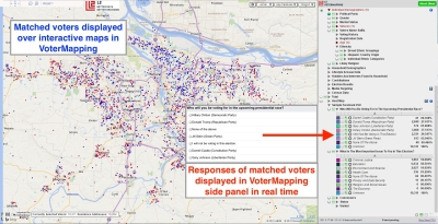 Ground Game Social Polls results viewed in VoterMapping